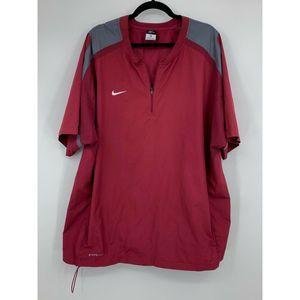 Nike storm Fit men XL baseball 1/4 zip wind jacket